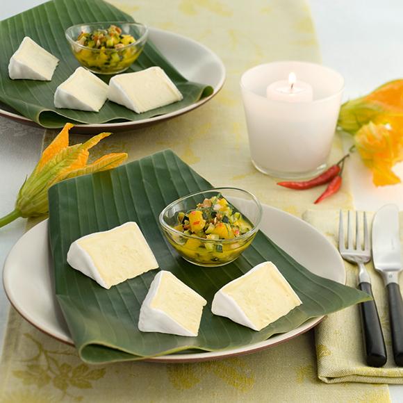 """Bildmotiv für Hoch-Genuss - """"Hoch-Genuss"""" auf exotischem Mango-Zucchini Ragout"""